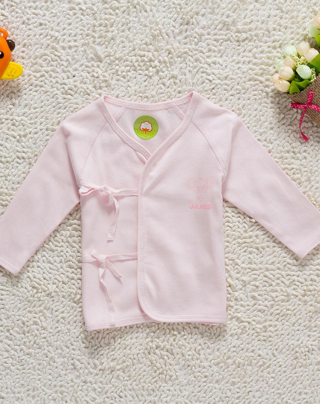 季季乐jjlkids男女童婴儿粉红系带上衣和尚服dpp