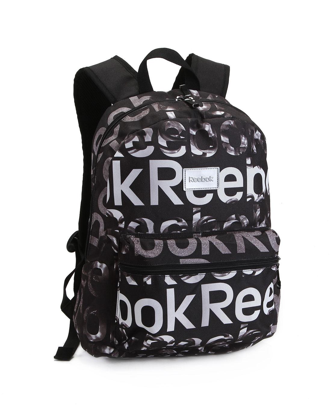 运动品牌锐步reebok 中性黑色运动休闲背包w64409
