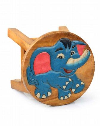泰国柚手工制作家居木凳-小象