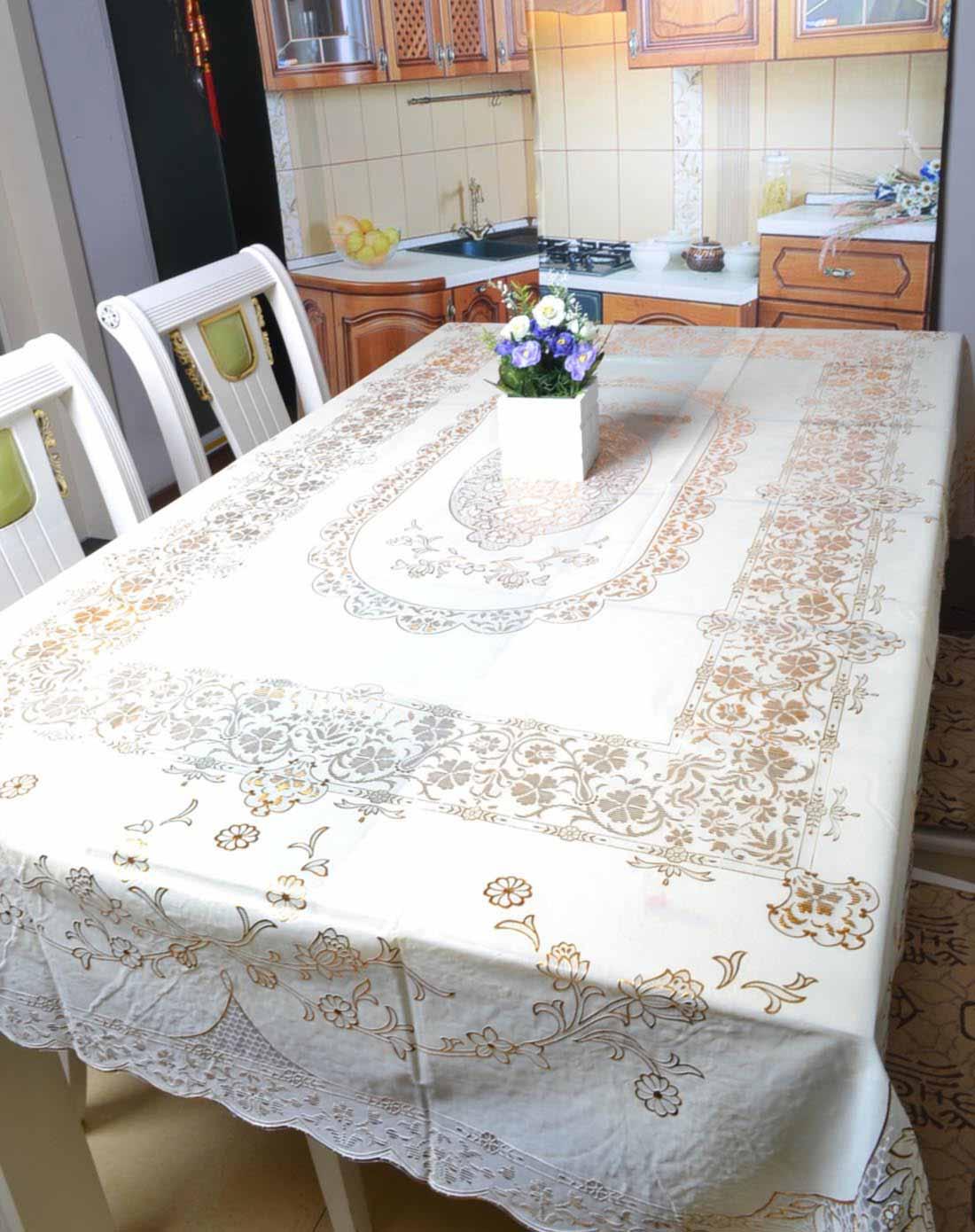 欧式防水防烫高档烫金桌布(金色罗马)