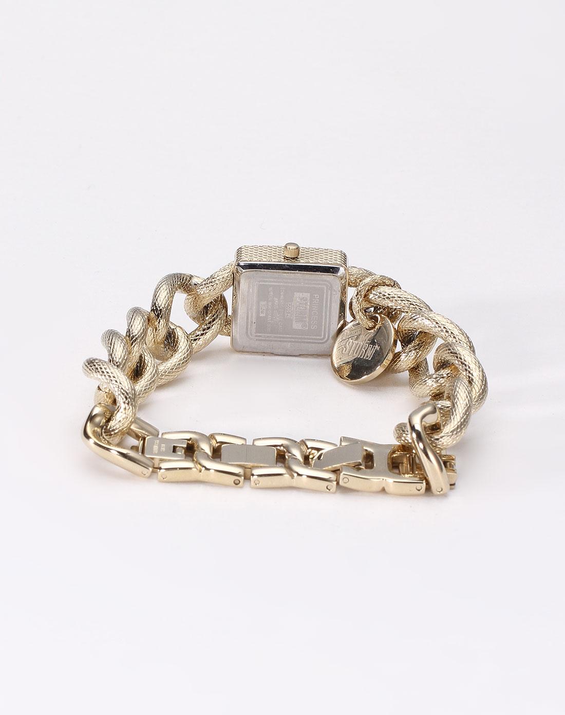 女性链条表带金色尊贵时尚石英手表