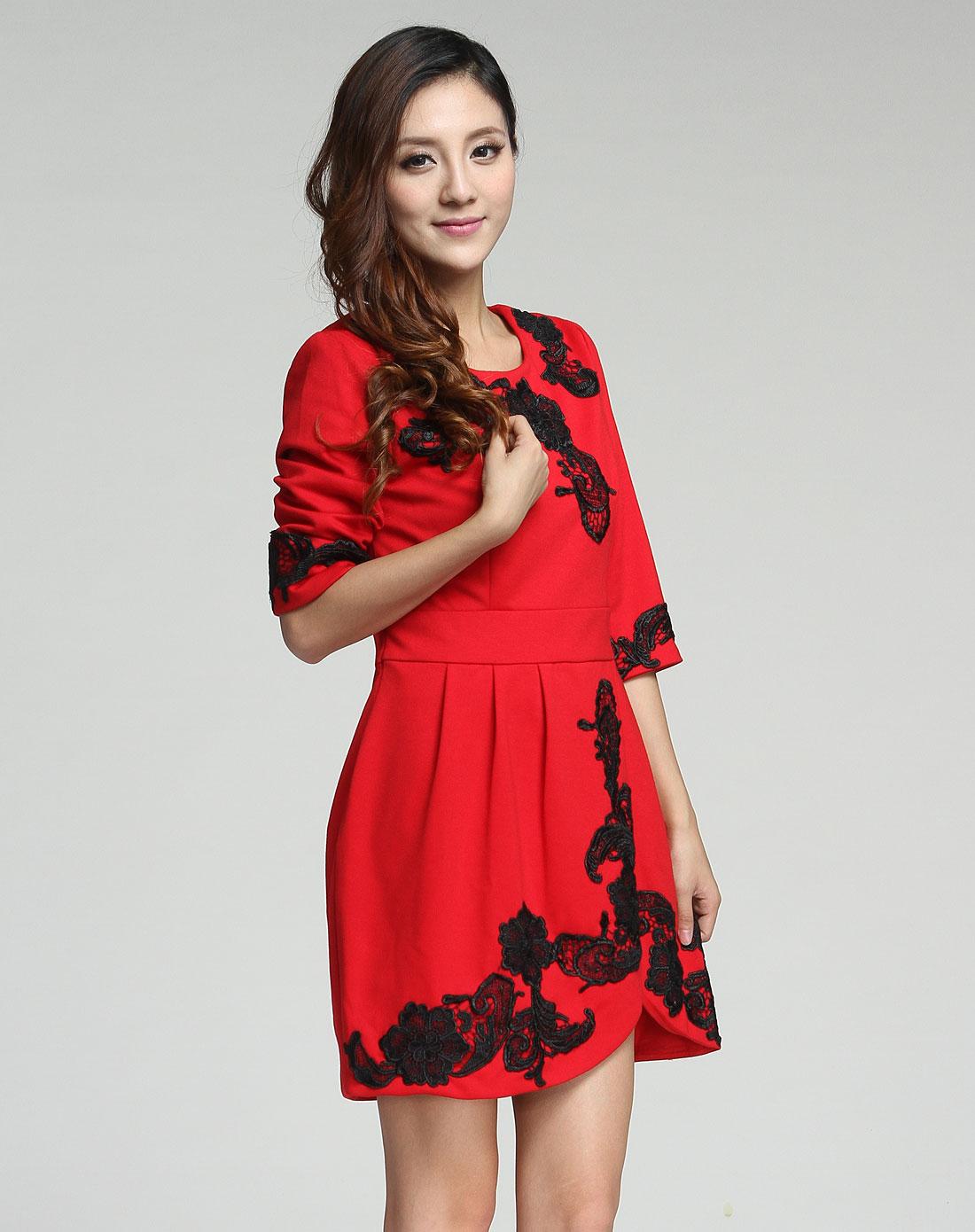 连衣裙七分袖