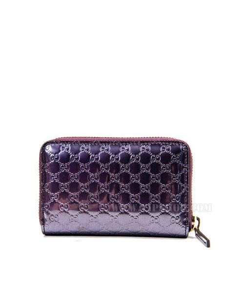 gucci 女款零钱包紫色