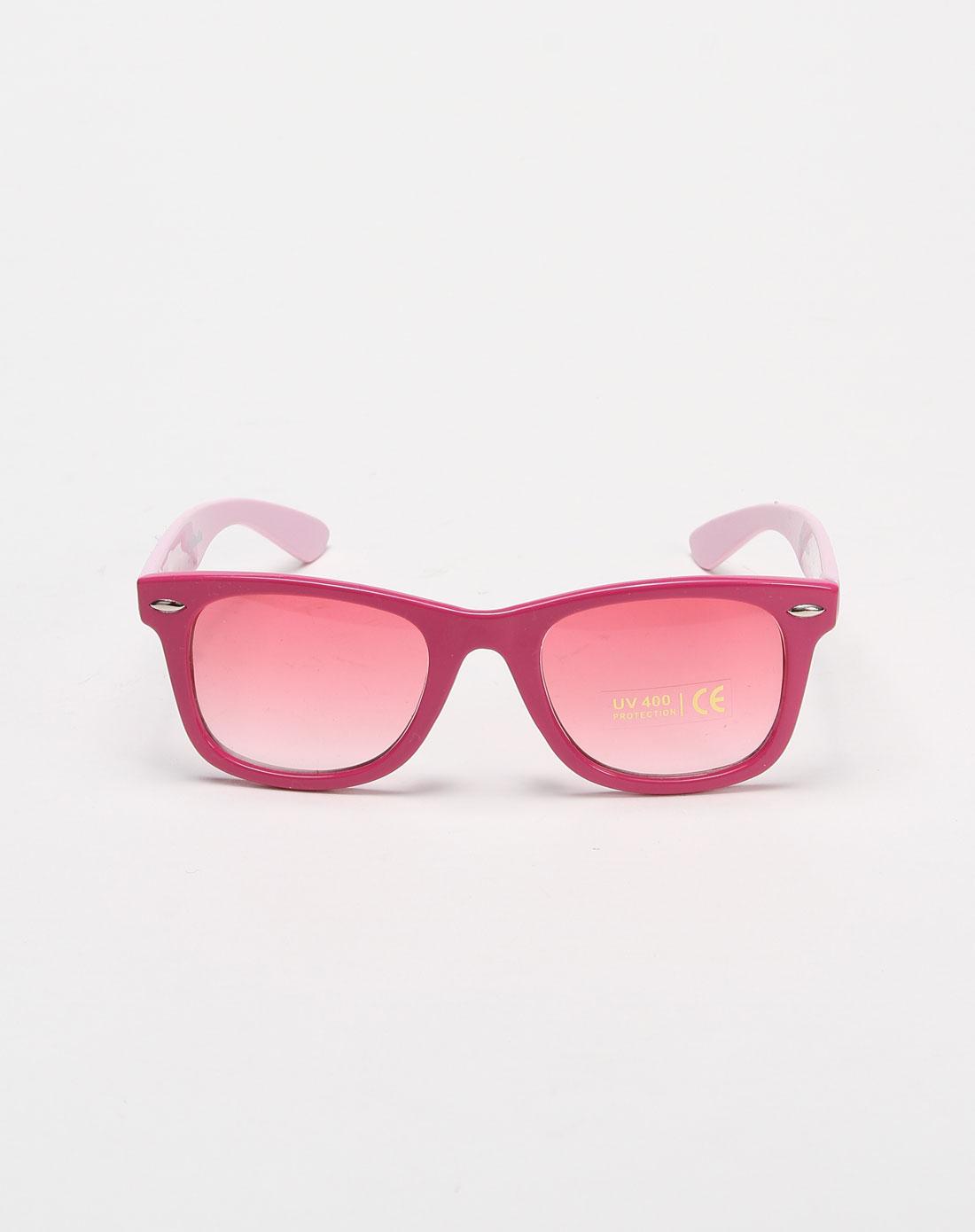 儿童可爱玫红色太阳镜