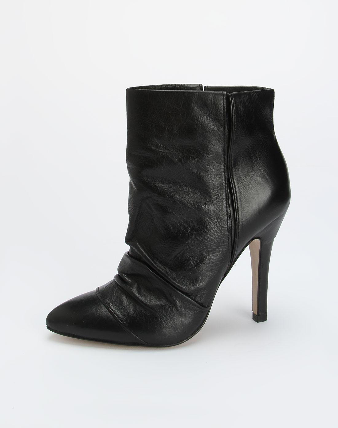 玖熙nine west 女款黑色个性高跟皮鞋