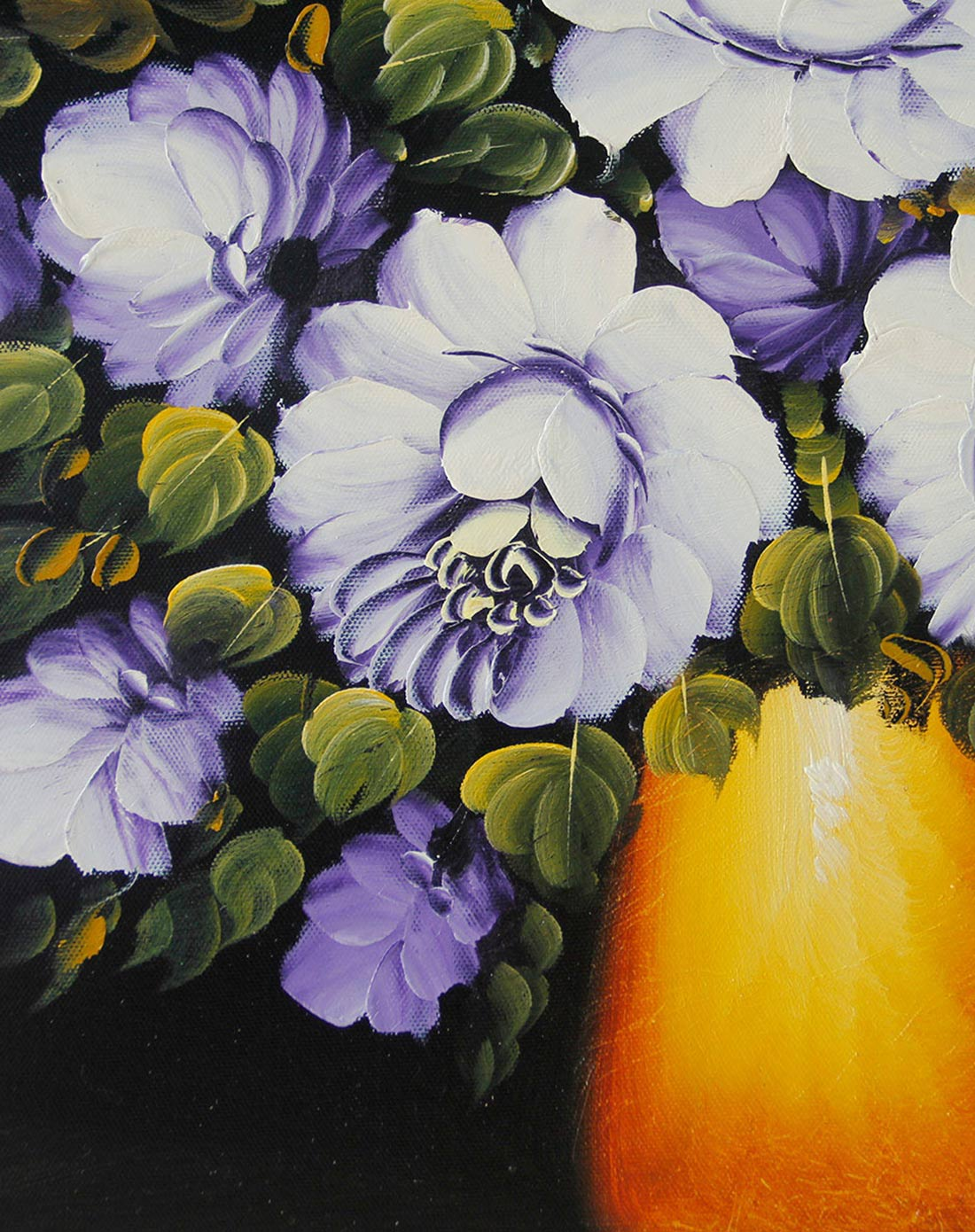 《紫玫瑰》纯手绘油画价格(怎么样)