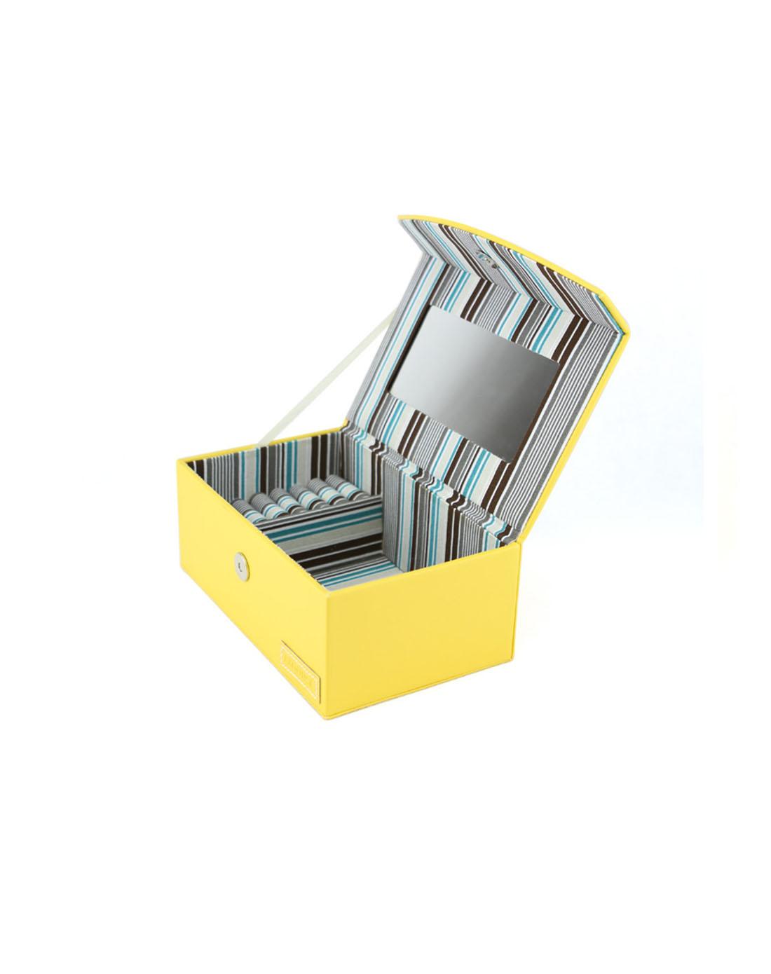 匡禾 橘黄色长方形珠宝盒