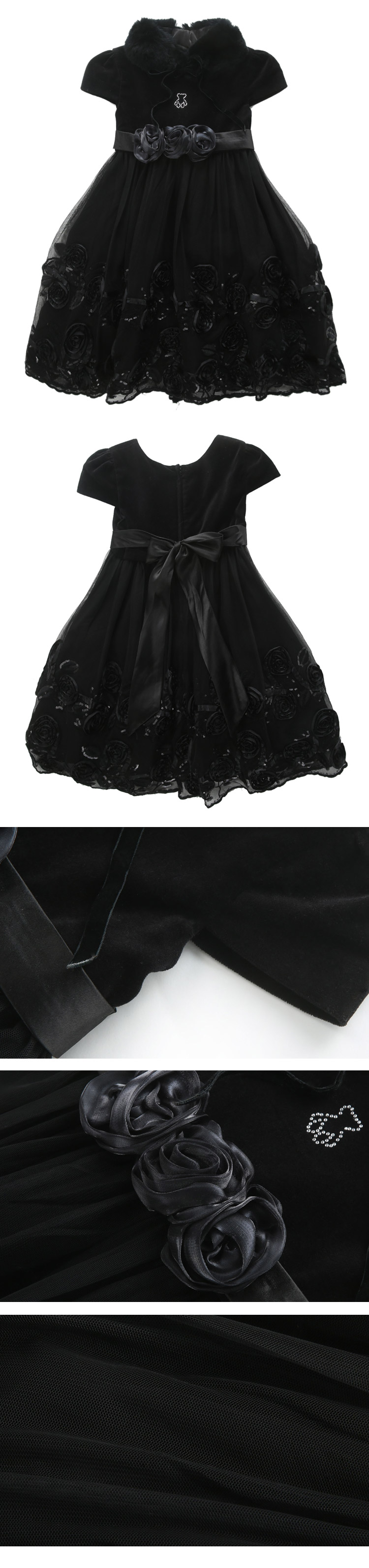 女童黑色小礼服