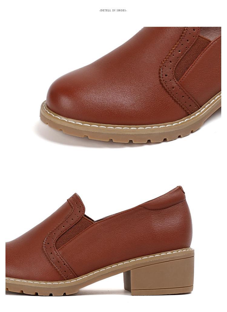 森达 商品名称: 森达秋季时尚舒适牛皮粗跟女休闲鞋 产地: 中国 鞋底