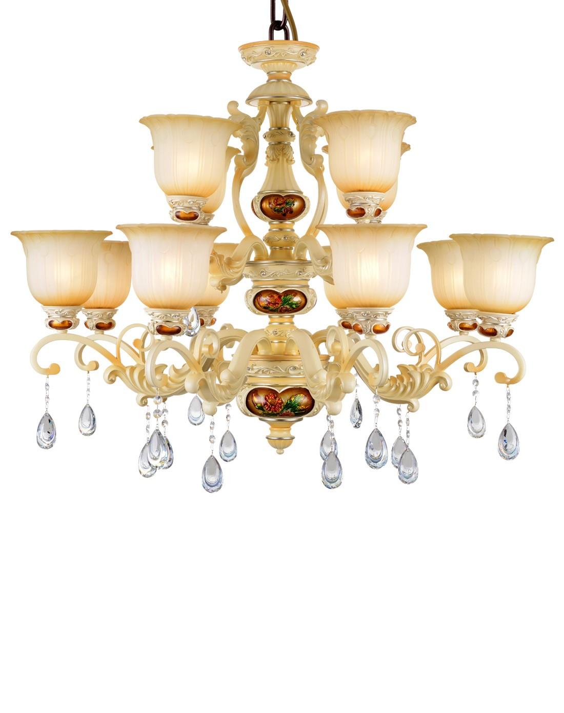 8 4欧式宫廷贵族经典客厅卧室水晶吊灯