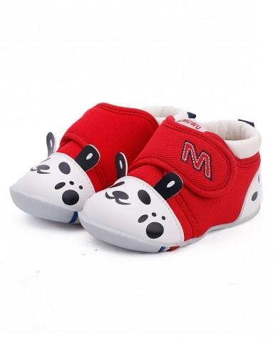 中性红色卡通动漫婴儿鞋