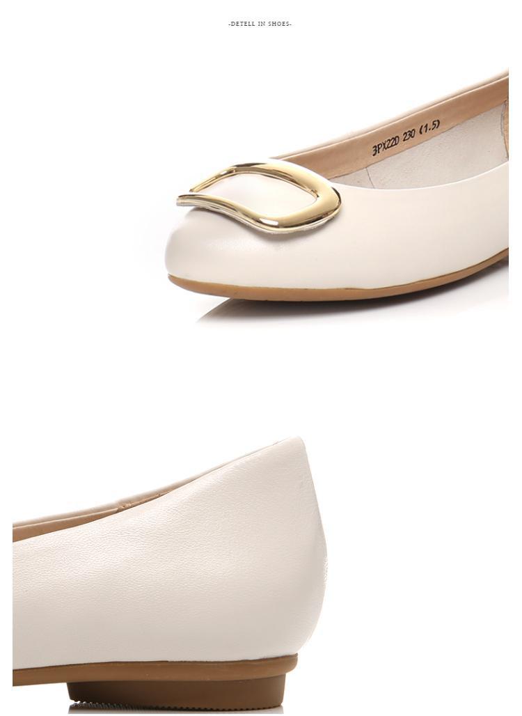 森达senda女鞋专场 森达春季专柜同款时尚甜美休闲羊皮女浅口鞋  品图片