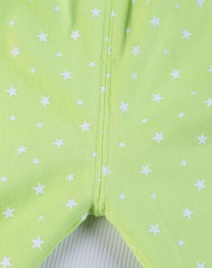 嫩绿奇幻星空星星中领肩开套