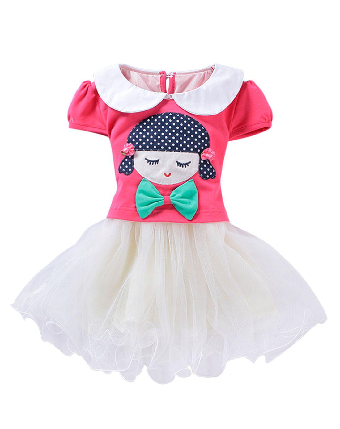 女童连衣裙韩版卡通公主裙子