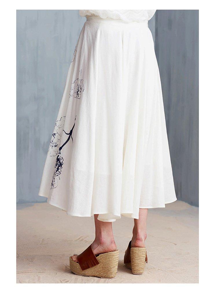 首次入驻-菀草壹wancaoyi原创设计师女装专场 时尚印花裙子