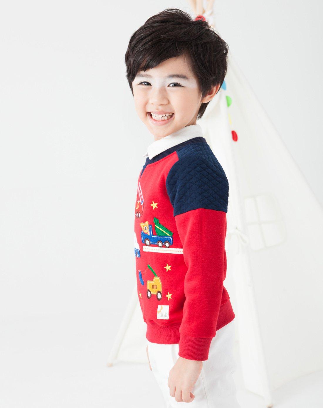 初语格式初中趣味小车男童掌握短卫衣T63051点缀答题必男女的红色图片