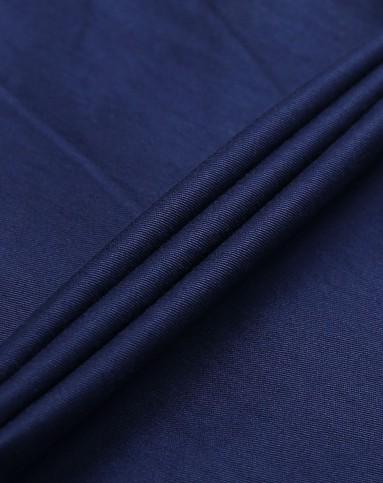 深蓝色纯色修身休闲长裤