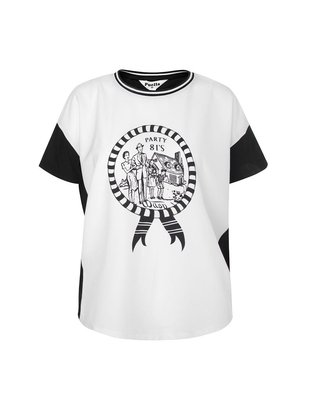 白色创意手绘t恤
