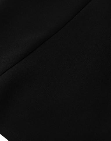 黑色裙子 荷叶边a字裙半身裙短裙
