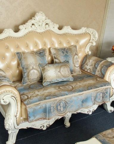 欧式宫廷花提花沙发垫90*210cm-多色可选