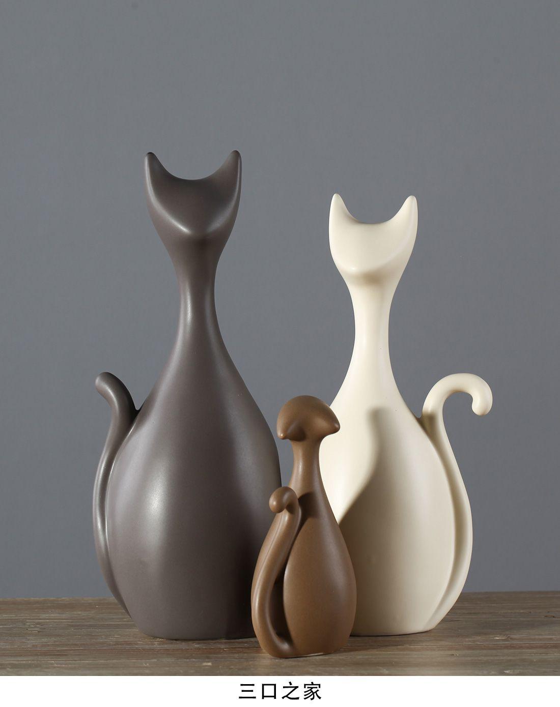 陶瓷雕刻鹿装饰摆件图片