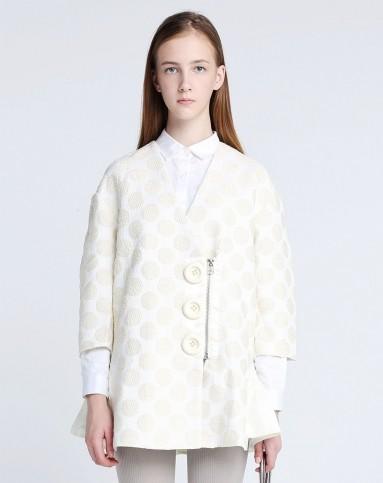 波点裙摆设计廓形风衣