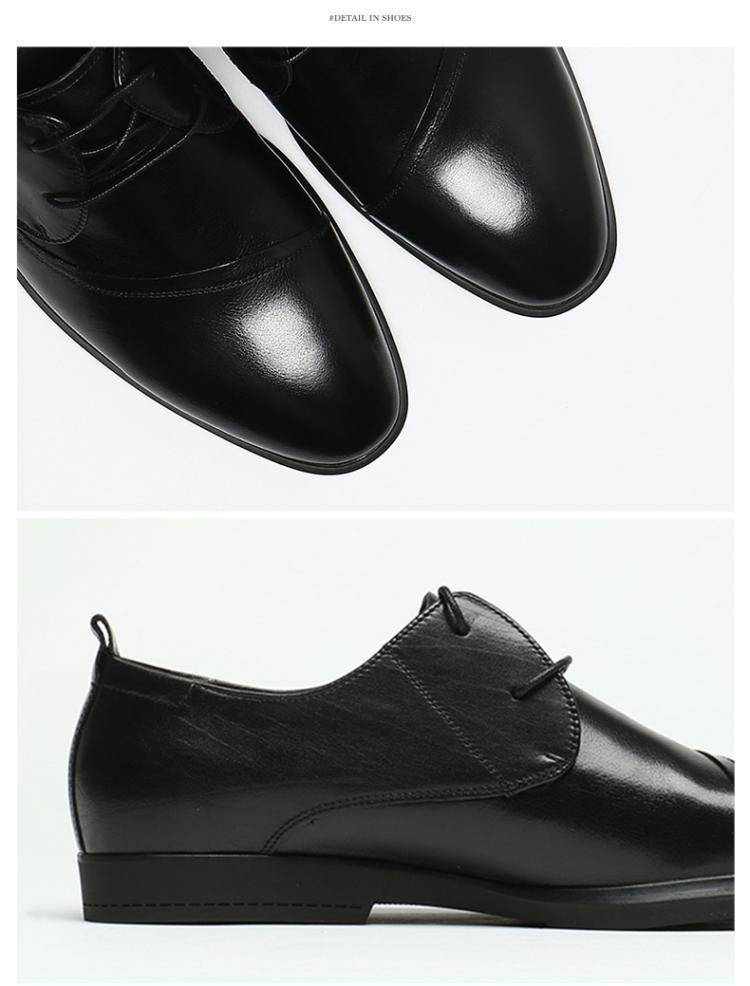 森达秋季时尚牛皮商务男鞋黑色图片
