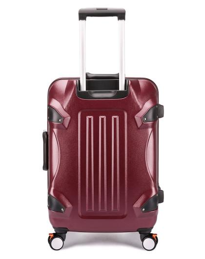 aigson时尚潮流个性24寸拉杆箱酒红色