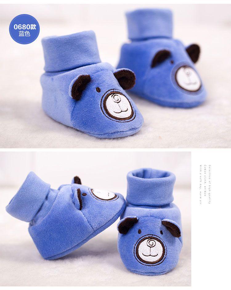中性浅棕可爱卡通婴儿鞋