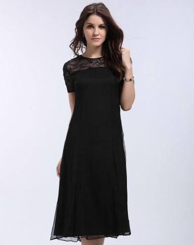 2016新款时尚黑色连衣裙