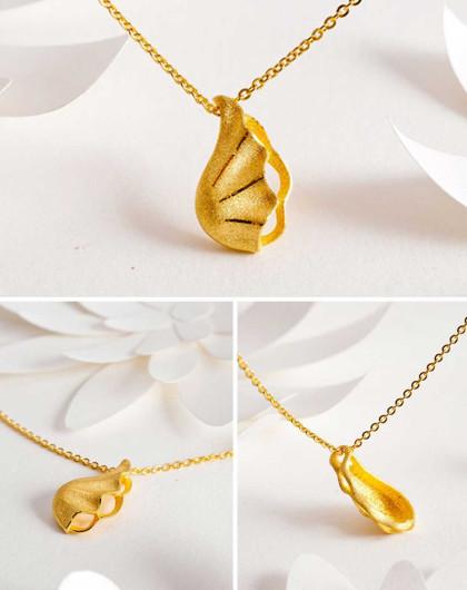 潮宏基 [海洋系列]珠宫贝阙 足金吊坠(不含链)-计价约2.8g
