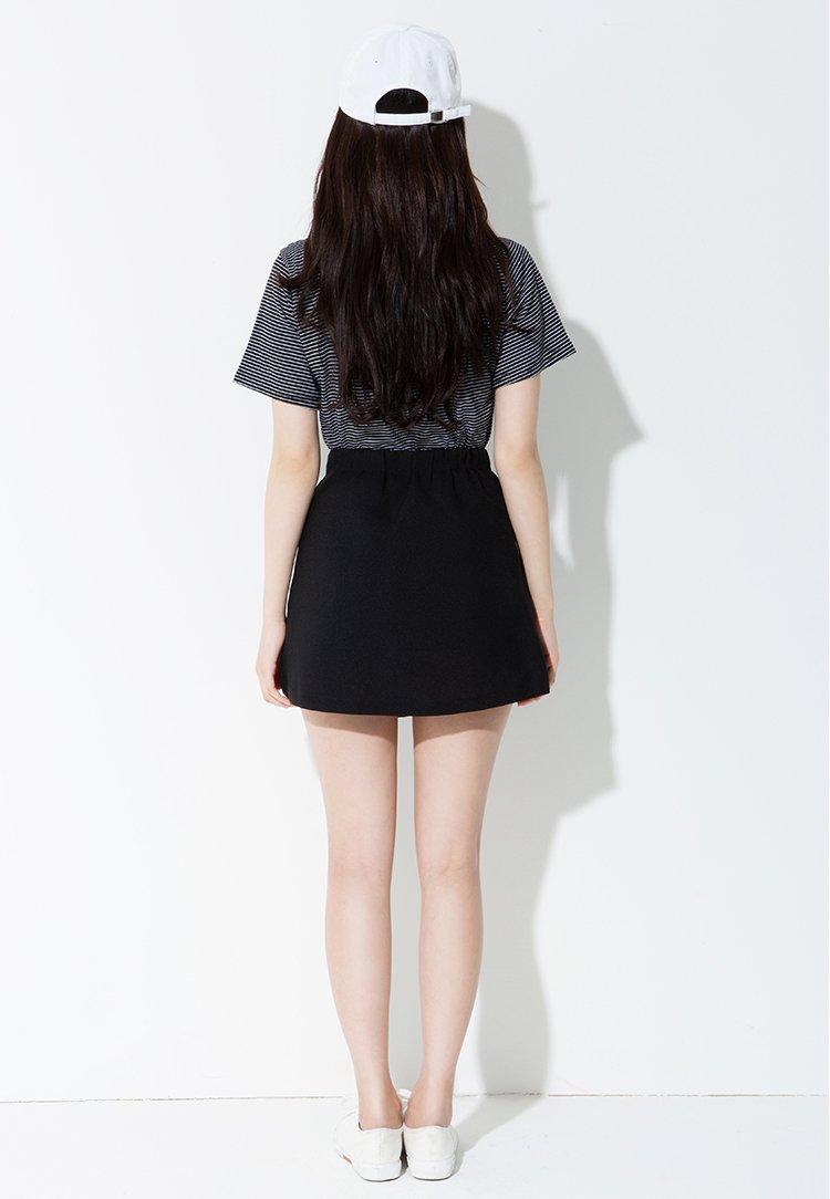 twee韩版时尚森女风优雅甜美不规则带子裙子半身裙