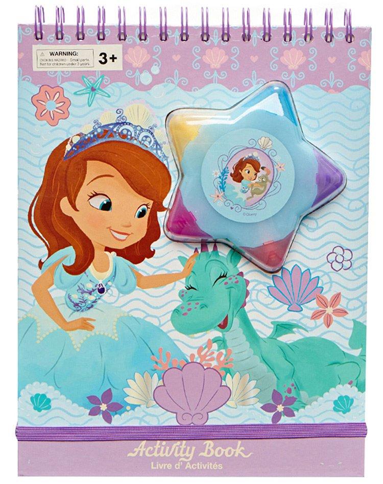 迪士尼公主系列苏菲亚公主儿童绘画本