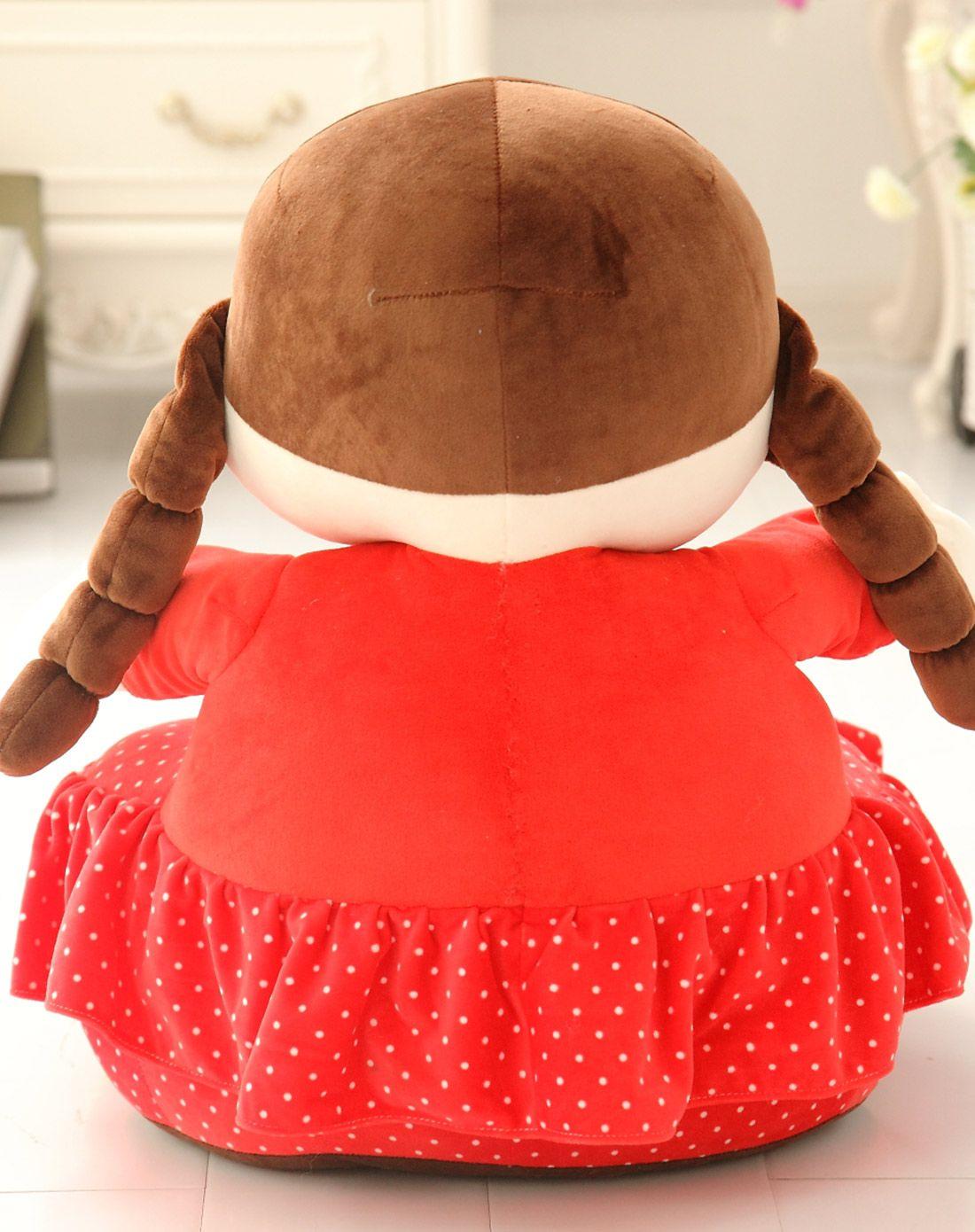 可爱沙发-红色大眼娃娃