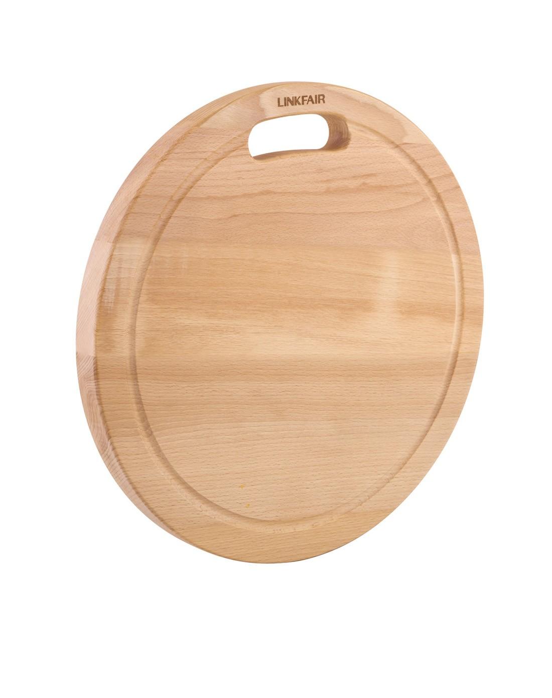 榉木材质,强韧耐摩擦,凌丰格伦圆菜板38*38cm