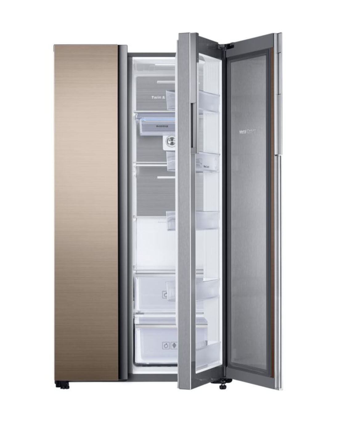 620升 叠式双开门冰箱