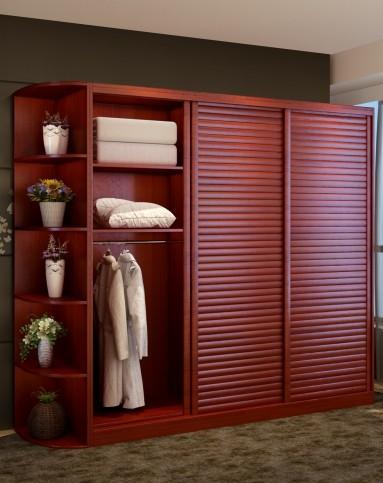 现货 卧室整体推拉门衣柜 定制收纳大衣柜 双色可选 2.7m