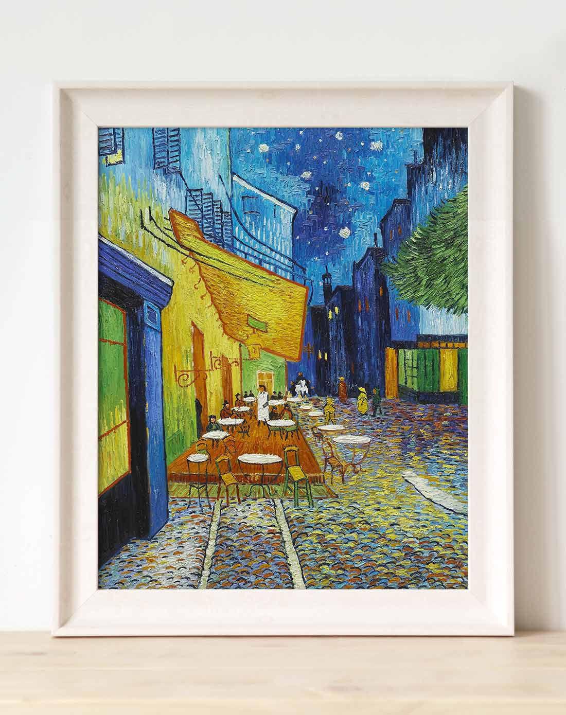 梵高 咖啡馆 简约美式油画餐厅装饰画图片