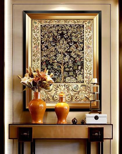 欧式玄关装饰画竖版过道走廊背景墙轻奢现代美式壁画