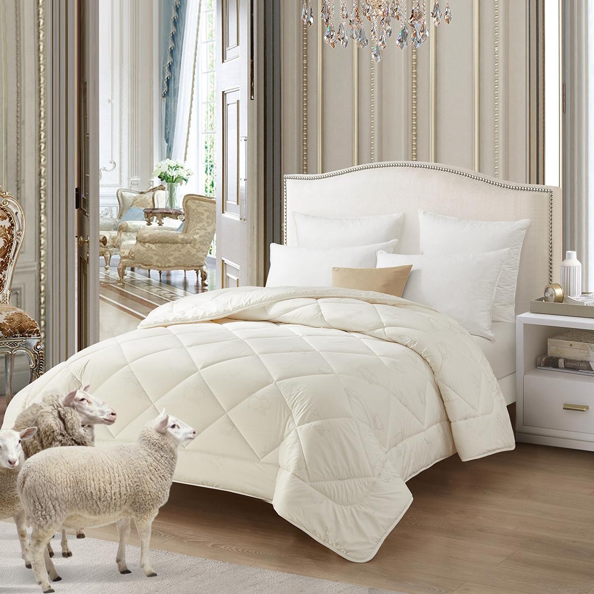 雅兰法国进口羊毛被 保暖加厚冬被蓬松保暖被芯COLOR白色(51%羊毛填充)