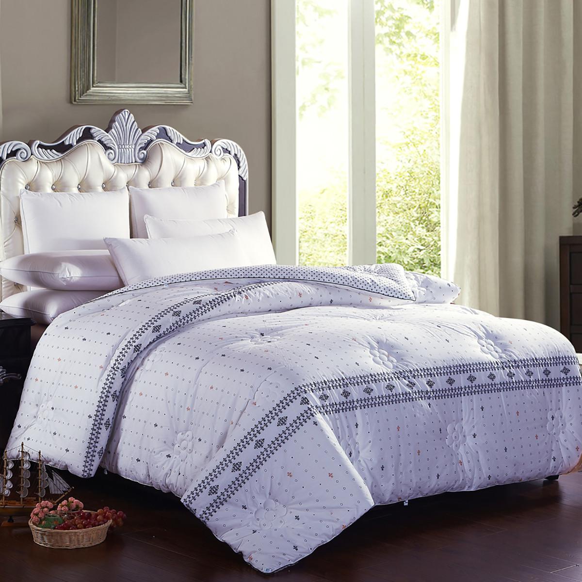 大红大紫全棉棉花春秋被子冬被8斤保暖全棉被套100%棉花被芯COLOR真爱永恒