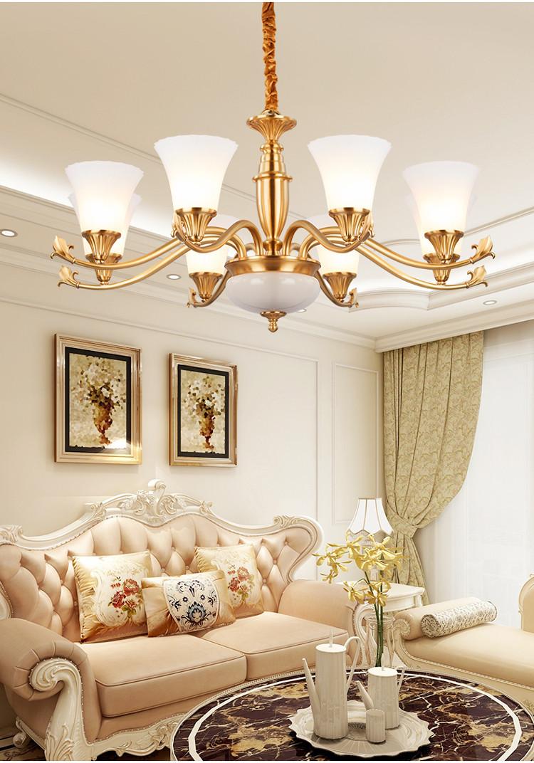 欧普照明欧式吊灯客厅灯全铜灯奢华客厅吊灯卧室灯具大气灯饰