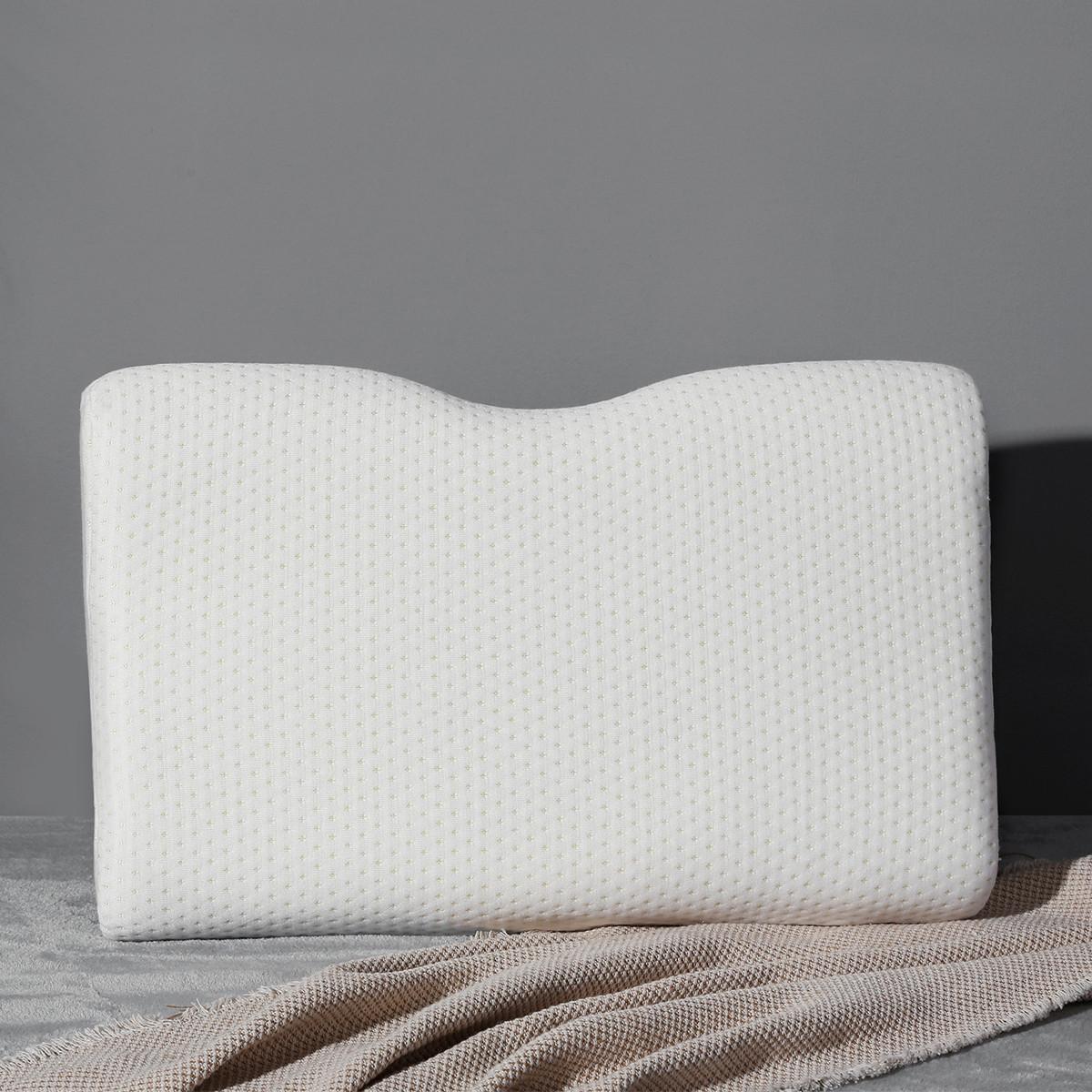 Ramada成人慢回弹呵护睡眠记忆枕枕套可拆洗床上用品护颈椎枕头枕芯枕头COLOR白色