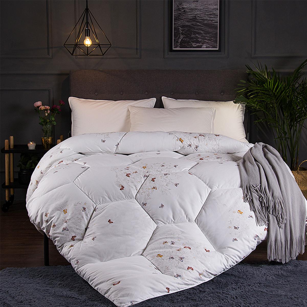 Ramada【年底清仓】柔系列磨毛印花被子被芯床上盖被被芯被子空调被COLOR白色