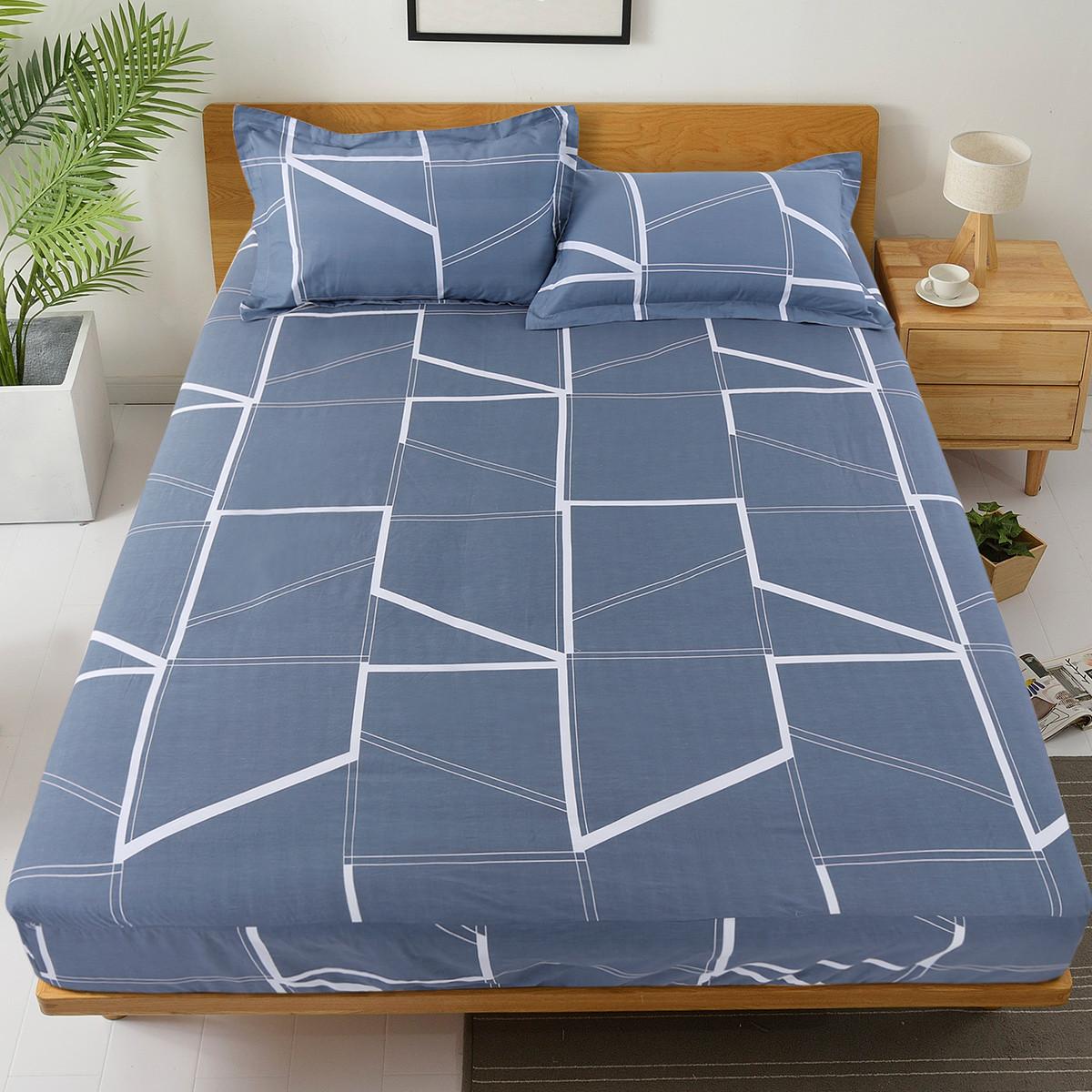 Ramada【年底清仓】柔系列全棉可水洗席梦思床垫床罩床褥褥子床笠薄床垫COLOR蓝色