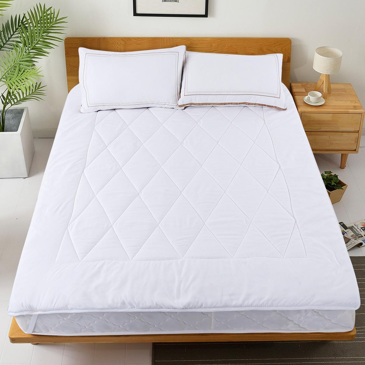 Ramada【年底清仓】柔系列磨毛床褥子榻榻米床垫宿舍床褥床笠薄床垫COLOR白色