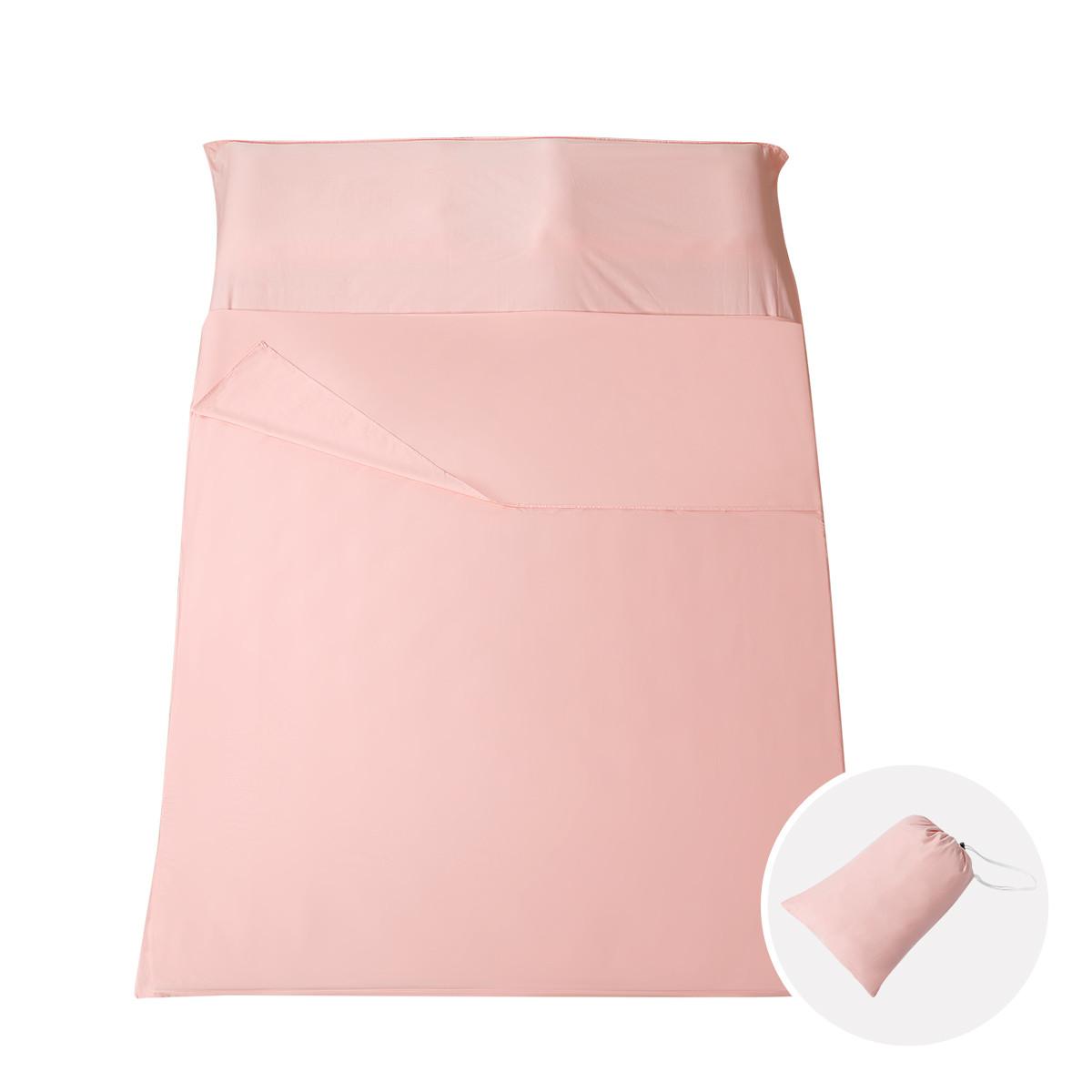 Ramada【年底清仓】全棉隔脏睡袋被单旅行床单旅行酒店隔脏睡袋纯棉COLOR粉色