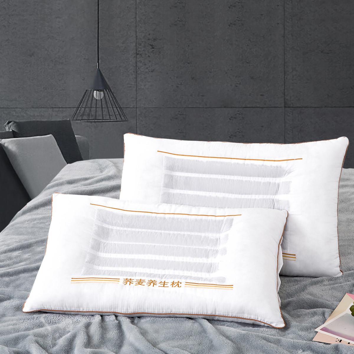 Ramada【年底清仓】护颈椎枕头一对拍2决明子枕头芯枕芯枕头低枕头COLOR白色(清新款)