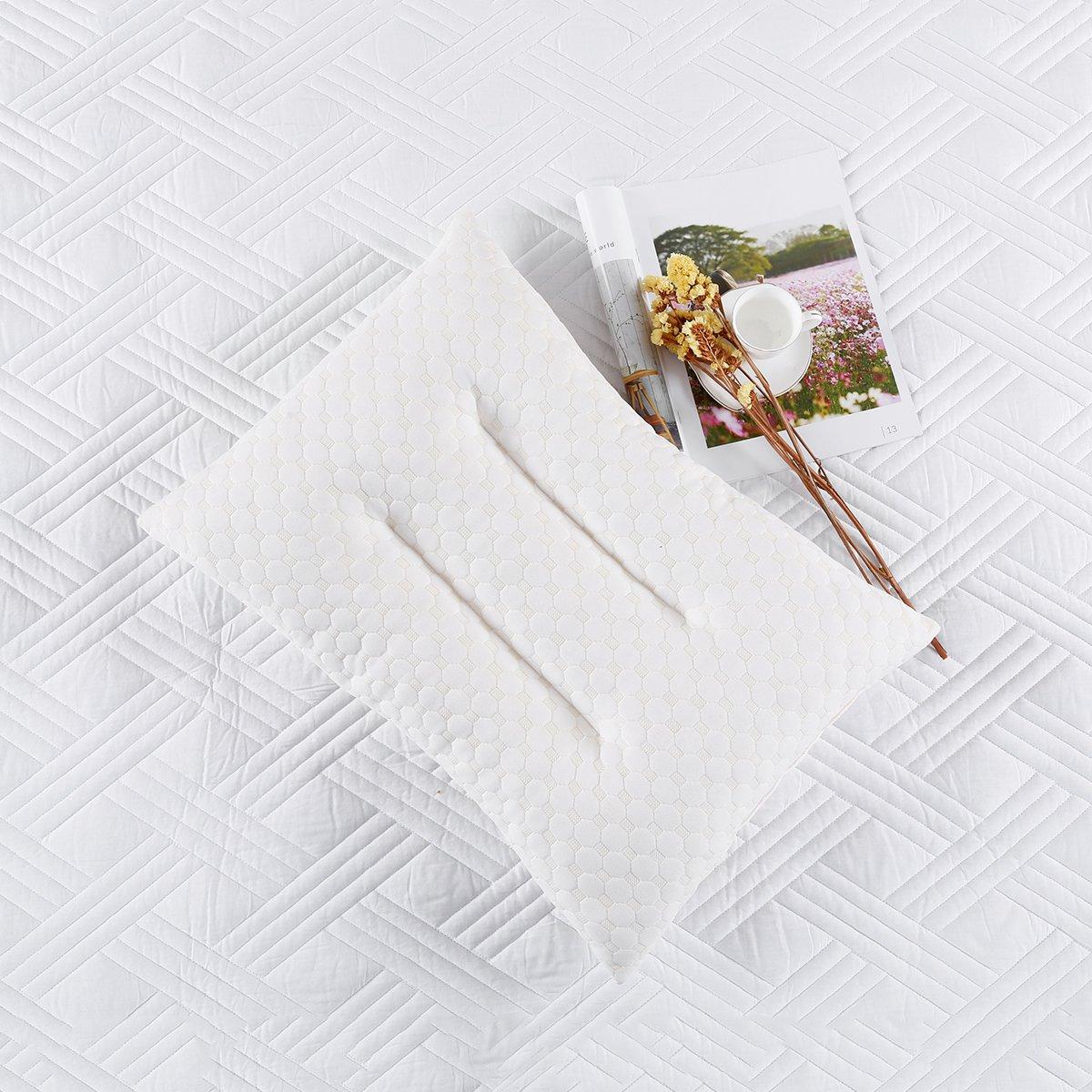 Ramada针织棉乳胶枕头护颈枕颈椎枕头芯颗粒乳胶枕头枕头枕芯COLOR白色