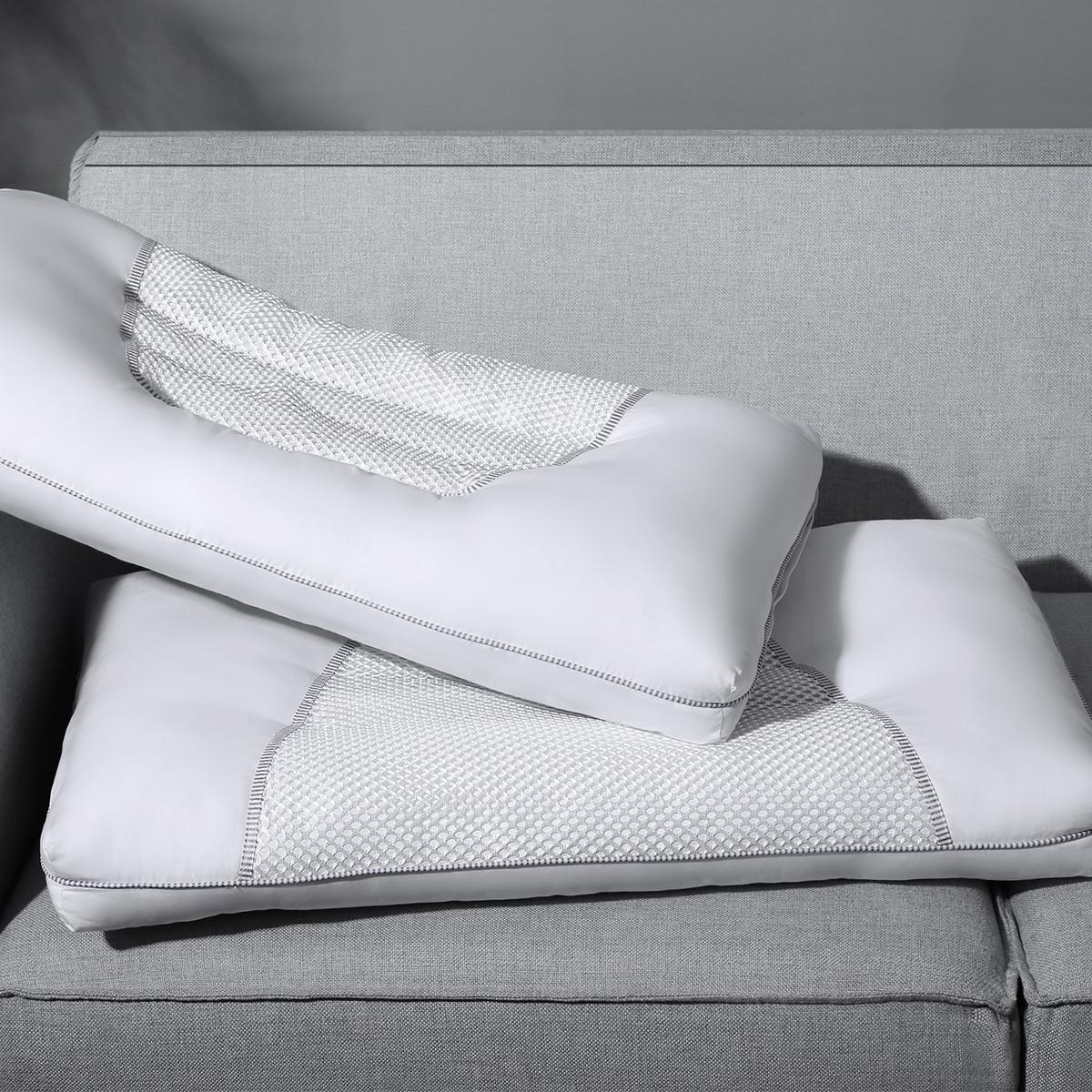 Ramada全棉羽丝绒决明子护颈椎枕芯枕头芯床上用品枕头芯枕芯枕头COLOR白色
